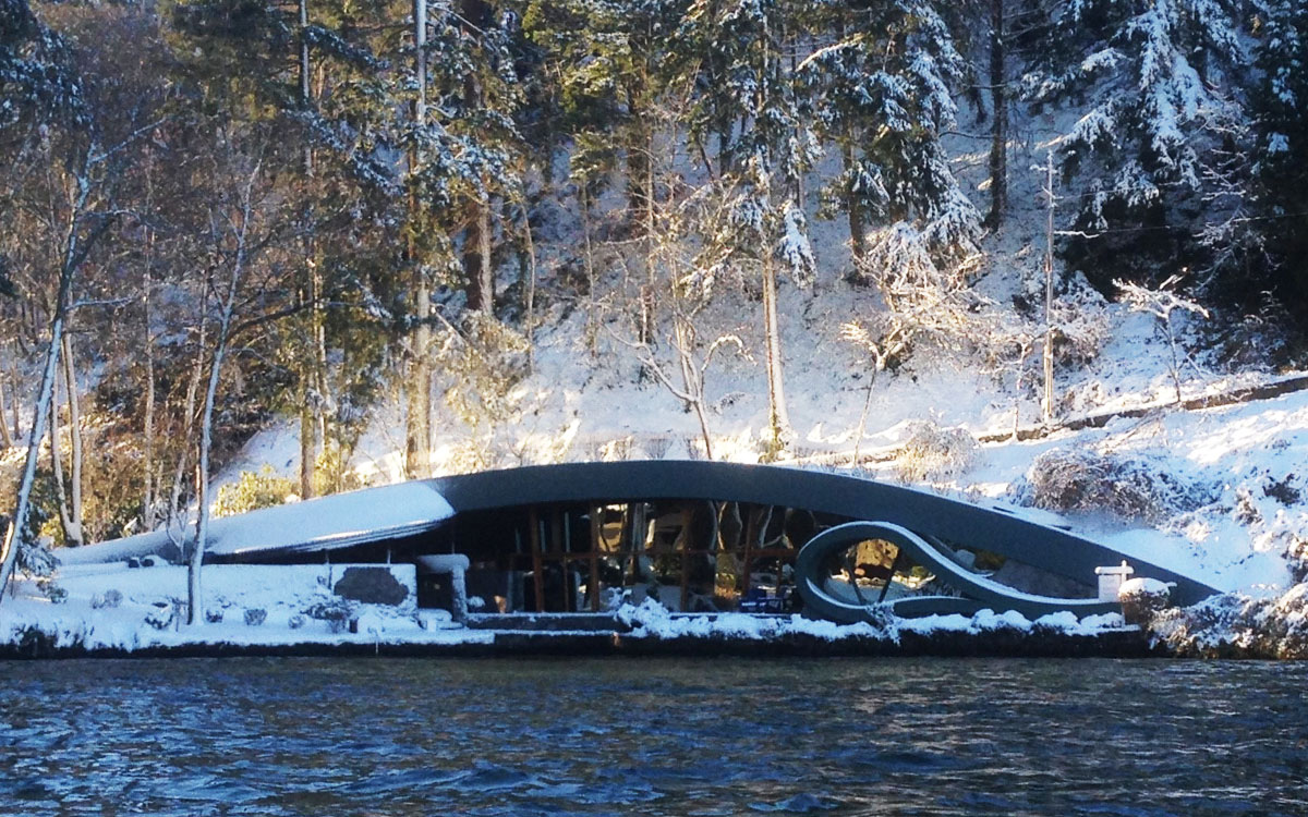 Gibson Boat House - View from Lake Oswego